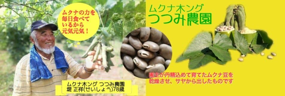 ムクナ豆の熊本県産100%なら『ムクナキング つつみ農園』